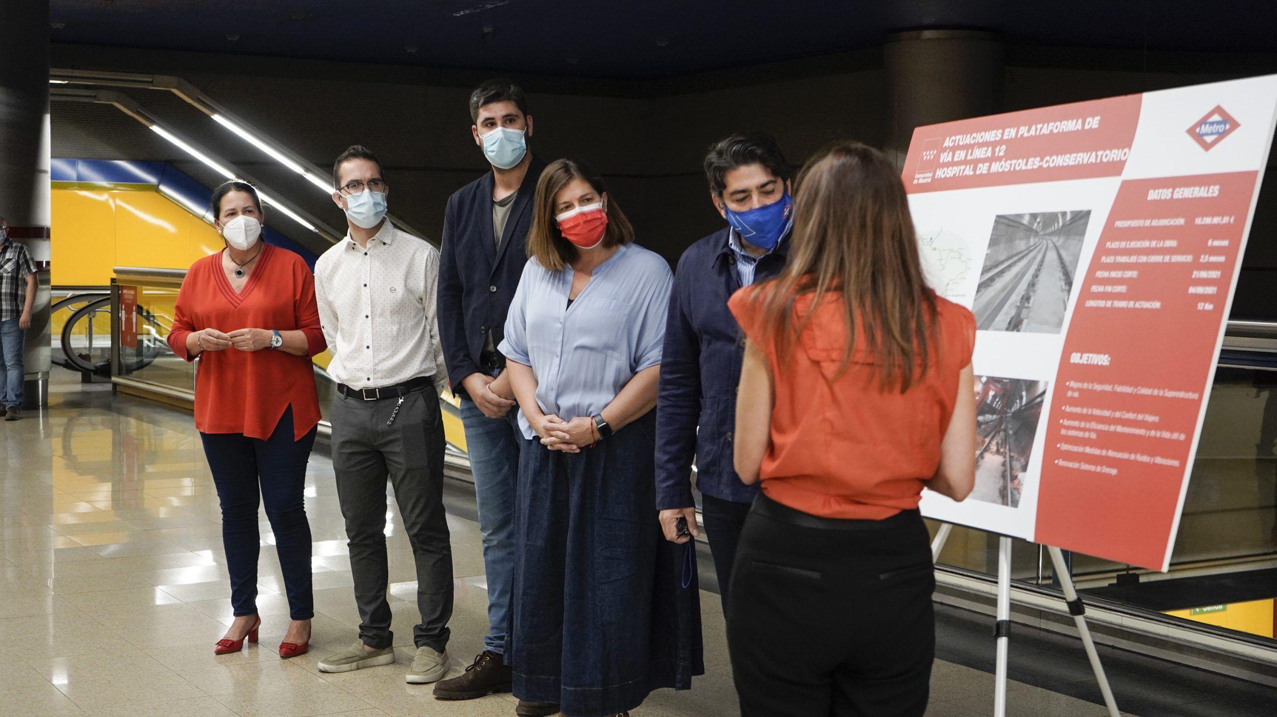 Las obras en el tramo de Hospital de Móstoles y Conservatorio han finalizado y se ha realizado la reapertura de las instalaciones. Los vecinos de Móstoles disfrutan de un Metrosur más rápido.