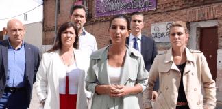 Rocío Monasterio visita Móstoles contra la okupación